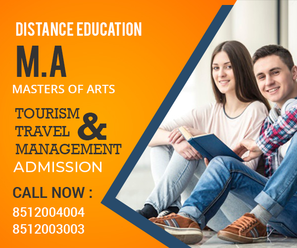 MA Tourism and Travel Management Distance learning Education Master's Degree courses