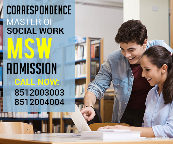 MSW Masters in Social Work MA Degree Distance Education Correspondence Admission